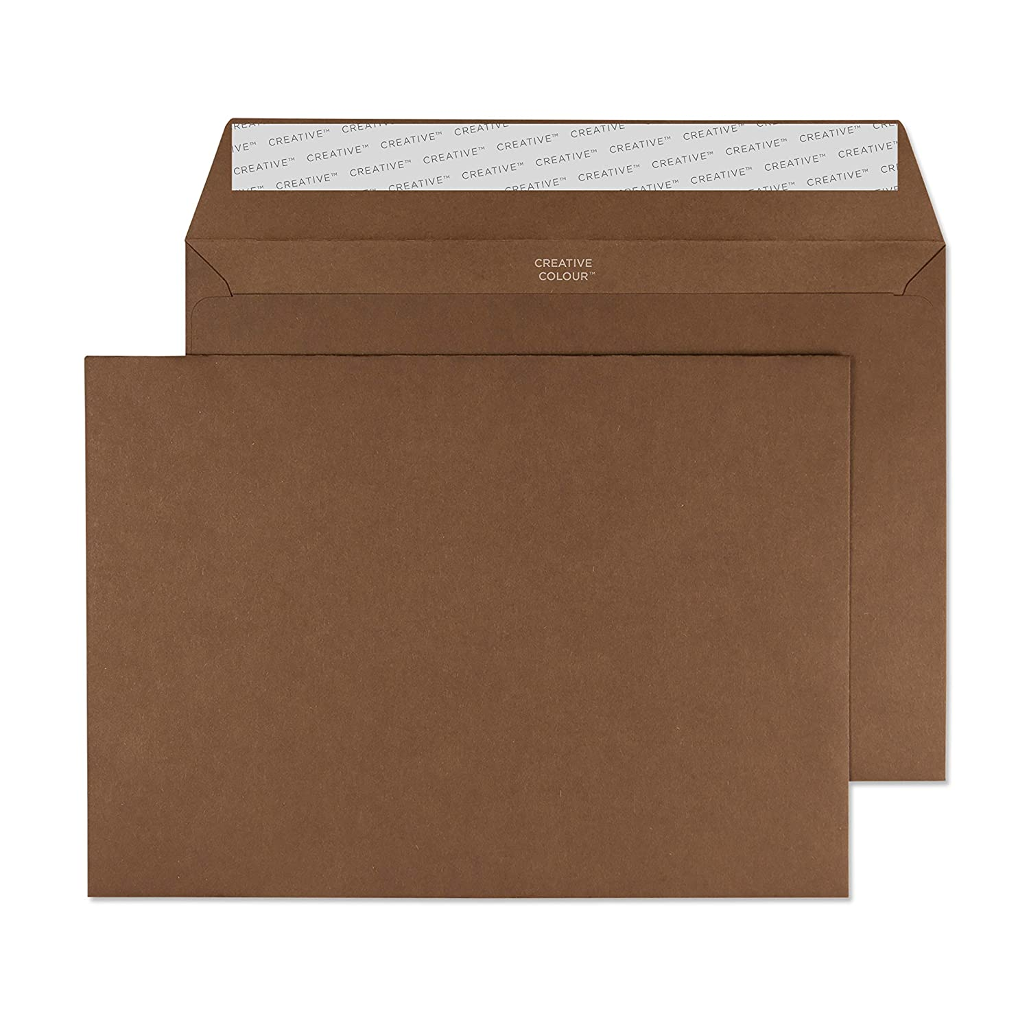 6 x 9 Inches Dark Brown Invitation Envelopes 326-76 80lb Paper Blake Creative Color Peel /& Seal - Pack of 500 Bitter Chocolate