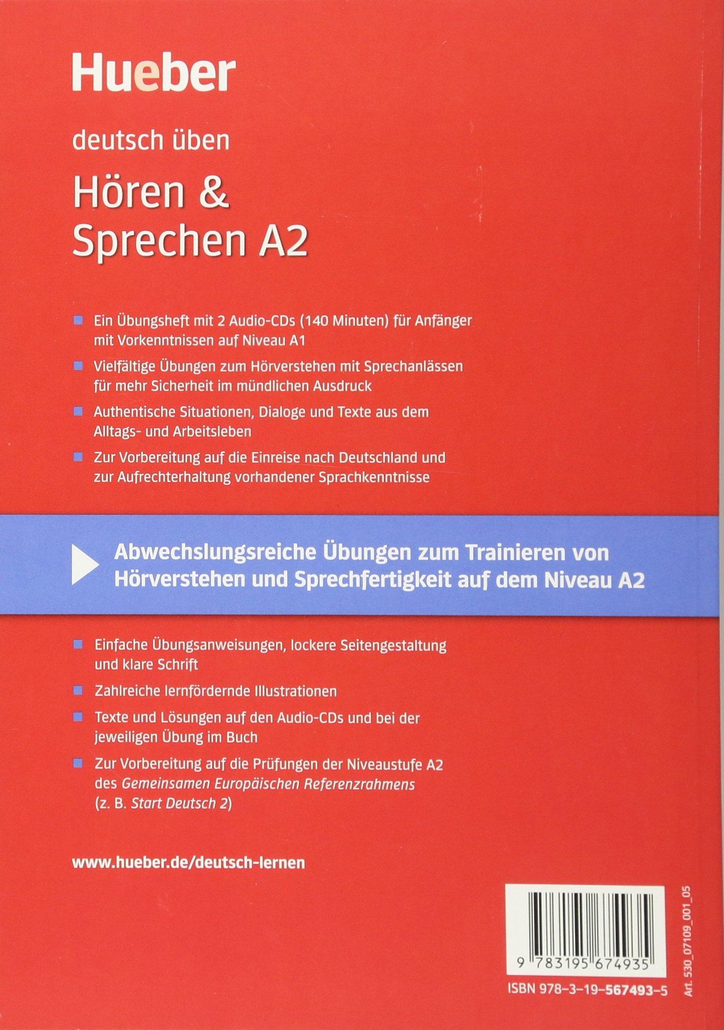 Deutsch Uben: Horen & Sprechen A2 - Buch & CD (German Edition ...