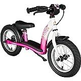 BIKESTAR® 30.5cm (12 pouces) Vélo Draisienne pour enfants ★ Edition Classic ★ Couleur Rose & Blanc
