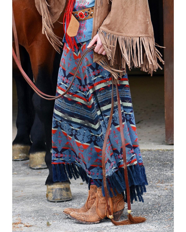 Tasha Polizzi Women's Harvest Blanket Skirt Indigo Large by Tasha Polizzi