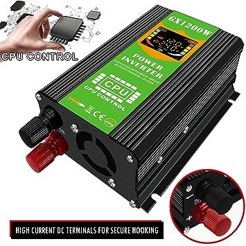GUOXIN inversor de corriente de coche DC 12 V a AC 230 V 240 V ...