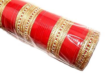 Buy Bridal Chooda/Choora/Bangles Size 2/6 for Wedding Golden