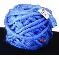 M.G Enterprise Knitting Yarn Thick Chunky Roving Jumbo Wool, Blue 100 gm Best Used with Knitting Needles, Crochet Needles Roving Jumbo Wool Yarn for Knitting. by M.G Enterprise