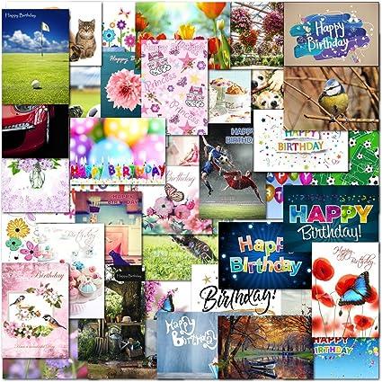 Pack de 50 tarjetas de felicitación de cumpleaños y ocasiones especiales para hombres y mujeres: Amazon.es: Oficina y papelería