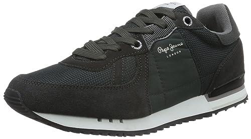 Pepe Jeans PMS30271 - Zapatillas de Deporte de Sintético Hombre, Gris (Gris (982Antracite)), 45 EU: Amazon.es: Zapatos y complementos