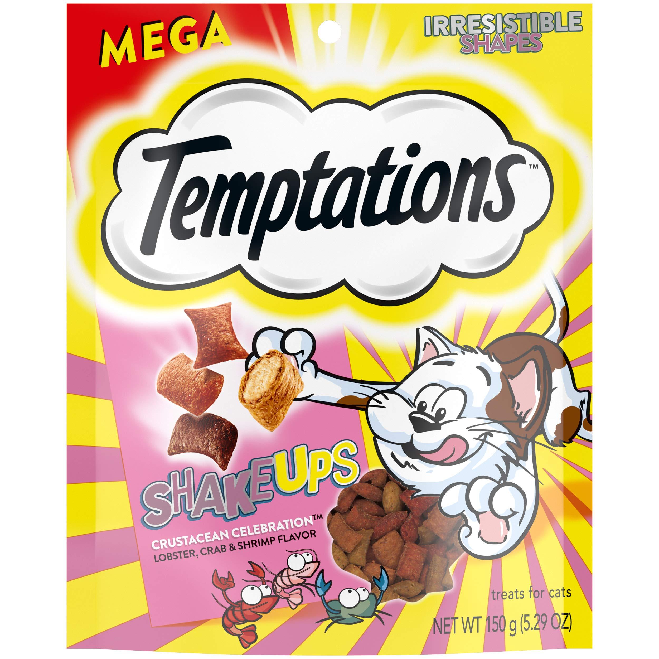 TEMPTATIONS MixUps & Shake Ups Crunchy and Soft Cat Treats, 5 - 6.3 oz.