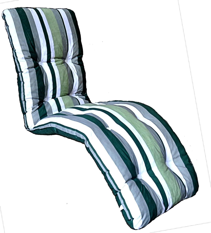 brand new replacement garden recliner relaxer chair cushion green