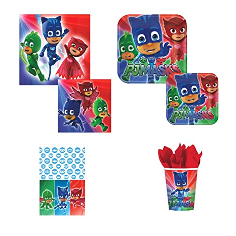 Party Pack Amscan PJ Masks Deluxe Birthday, 16 guests