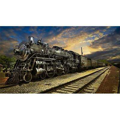 Jigsaw Puzzle 1000 Piece Train and Railway Landscape Classic Puzzle Adult Puzzle DIY Kit Wooden Toy Unique Gift Modern Home Decor: Toys & Games