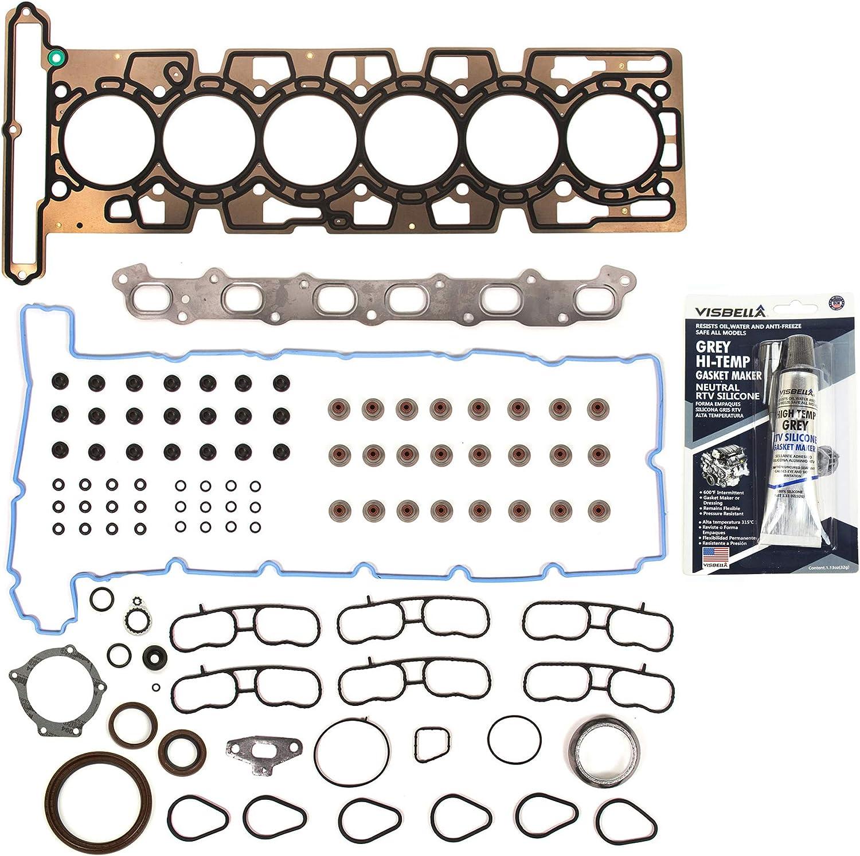 Exhaust Manifold /& Gasket Kit for Buick Chevy GMC Isuzu Oldsmobile Saab L6 4.2L