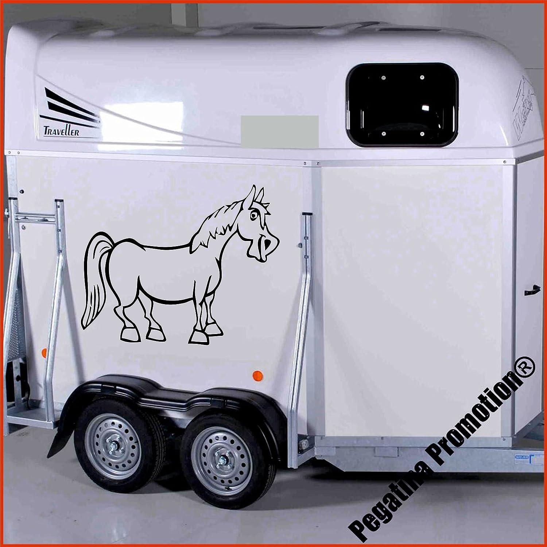 lustiges Pferd Modell 1 Aufkleber Anhänger Pferd Anhänger ca.80x60cm Pegatina Promotion ®
