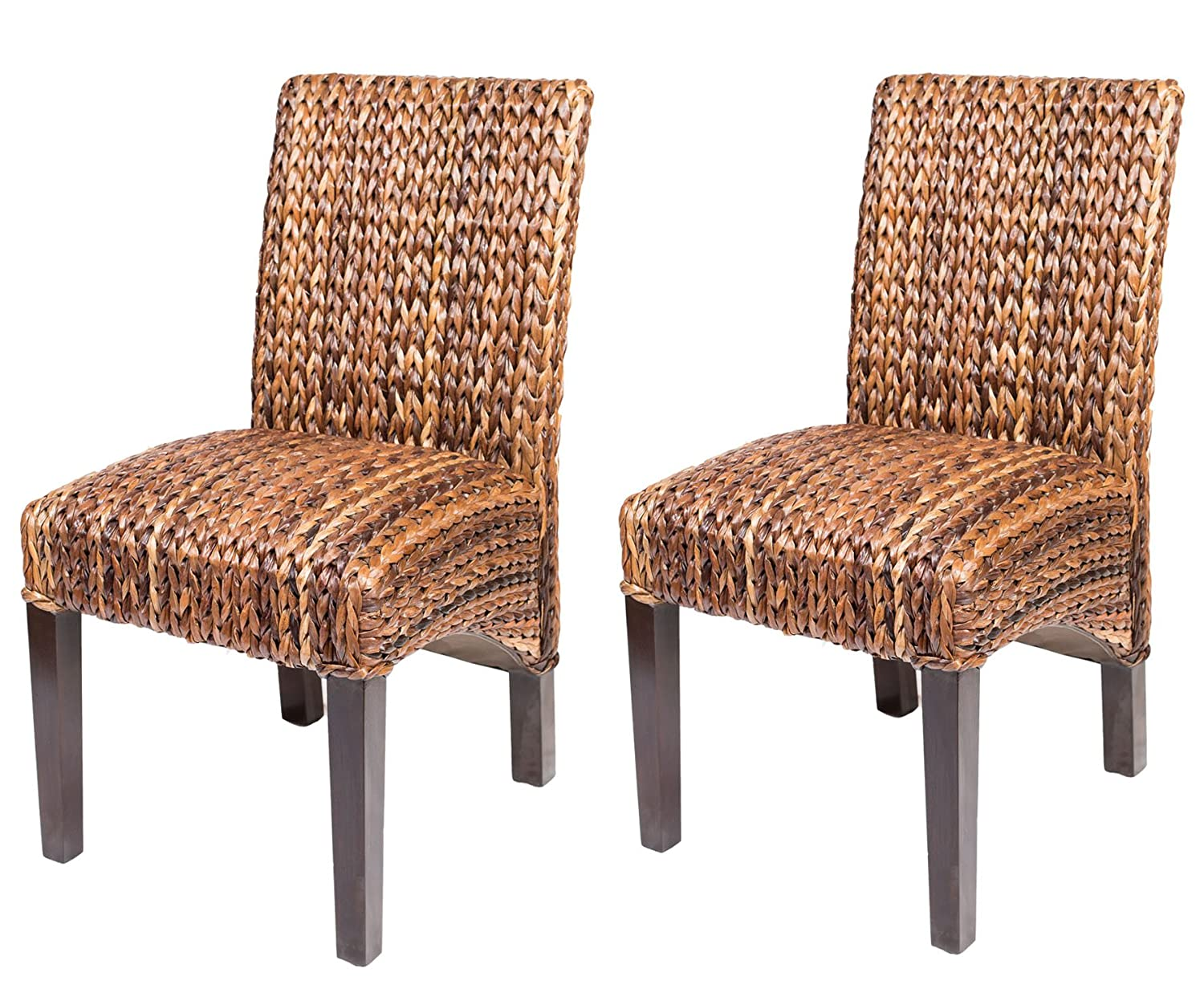 Amazon.com   BirdRock Home Abaca And Seagrass Side Chair Set | 2 Pc |  Delivered Fully Assembled   Chairs