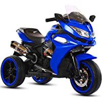 Electric Ride-On Compatible Blue Motorbike for Kids with Headlights and Sound Effects