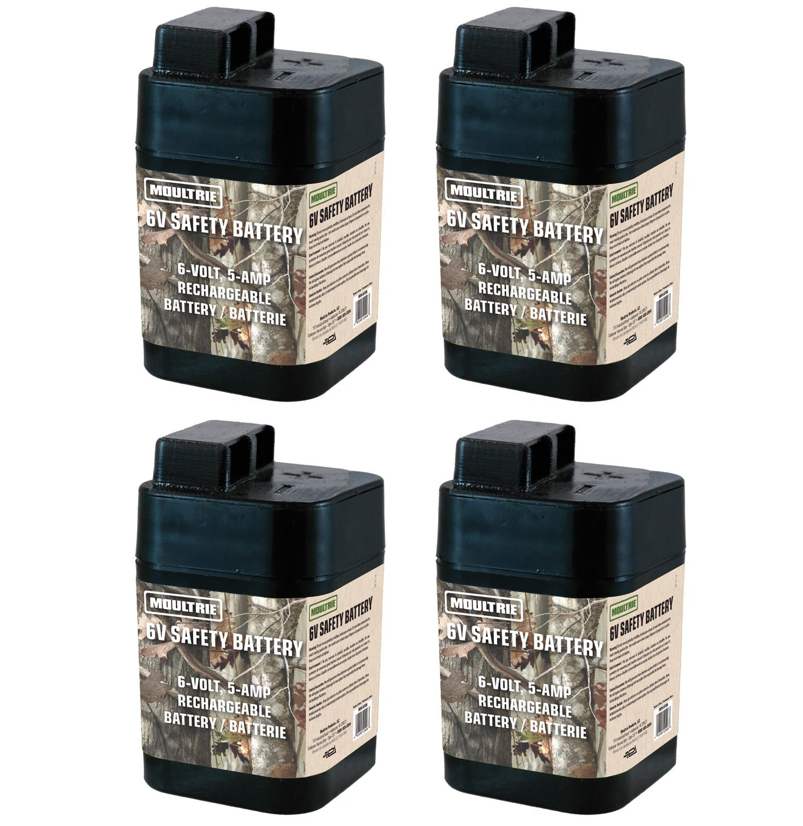 4 MOULTRIE 6 Volt Rechargeable Safety Batteries for Automatic Deer Feeders |SRB6 by Moultrie