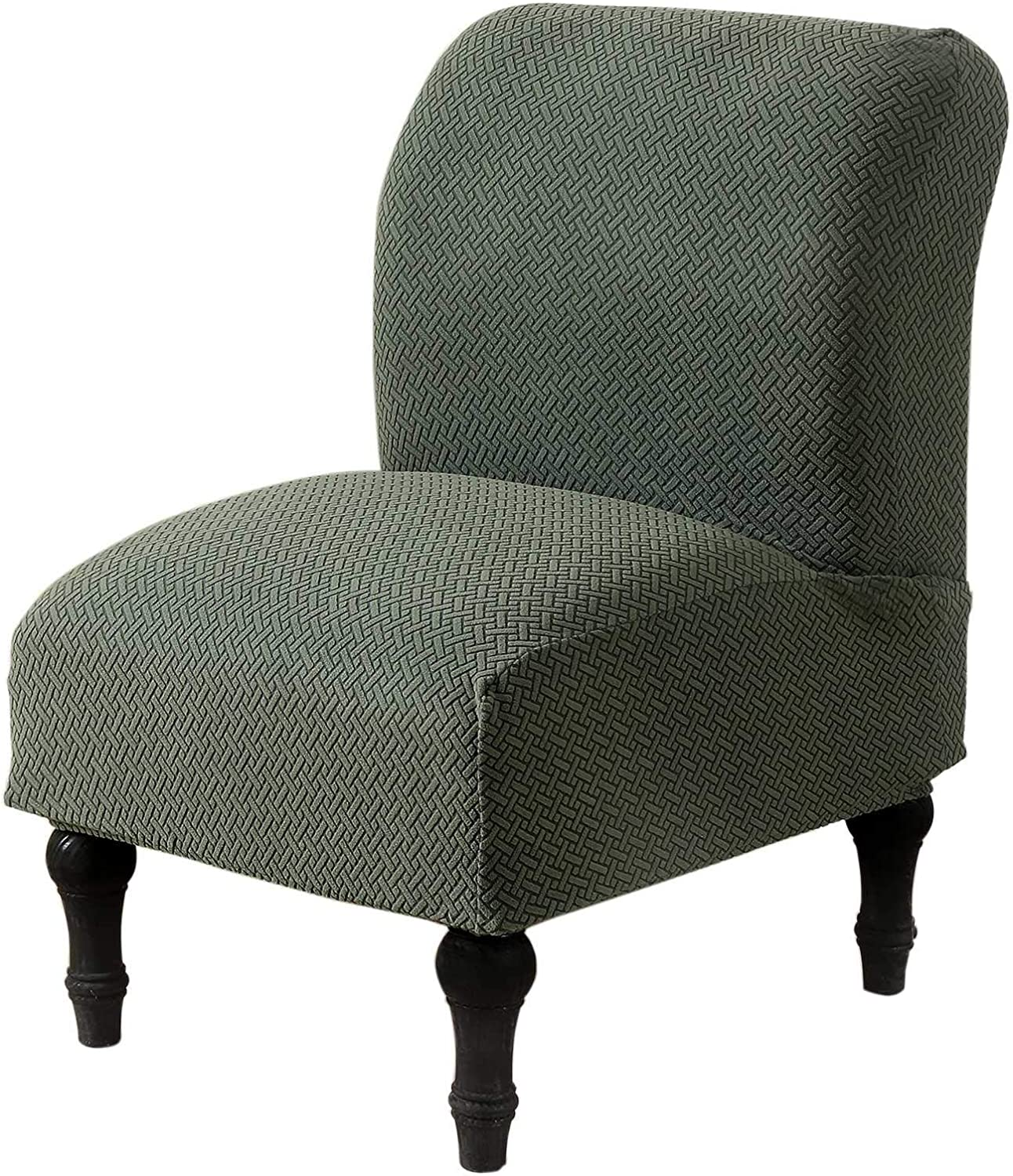 Dingtuo Armless Chair Slipcovers Stretch Furniture Protector Covers Sofa Covers Contemporary Accent Chair Slipcover Green