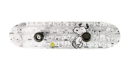 Snoopy SKSN5777 - Perchero de Madera (60 x 6 x 15 cm), diseño, Color Blanco y Negro