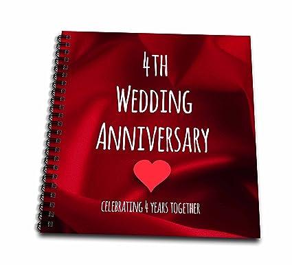 Amazon.com: 3dRose 4th Wedding Anniversary Gift - Silk Celebrating 4 ...
