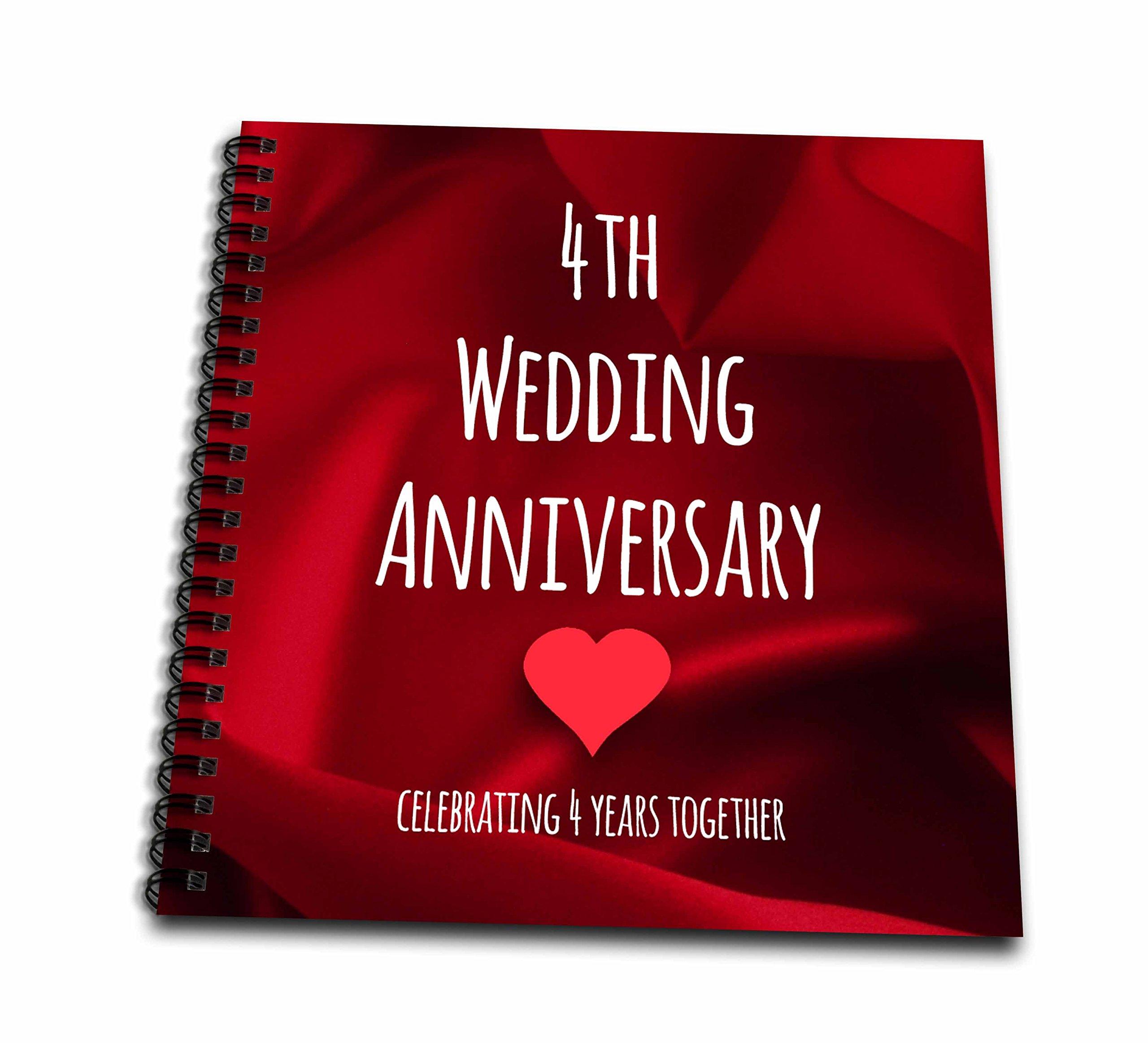 3dRose 4th Wedding Anniversary Gift - Silk Celebrating 4 Years ...