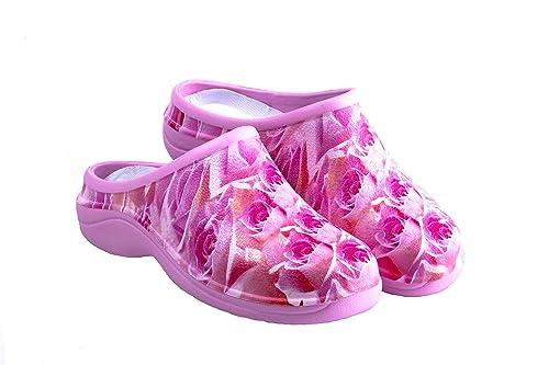 6704915a504 Zuecos Sanitarios- Zuecos Enfermeras- Cómodos y Originales Backdoorshoes®-  Modelo Rositas Mujer-