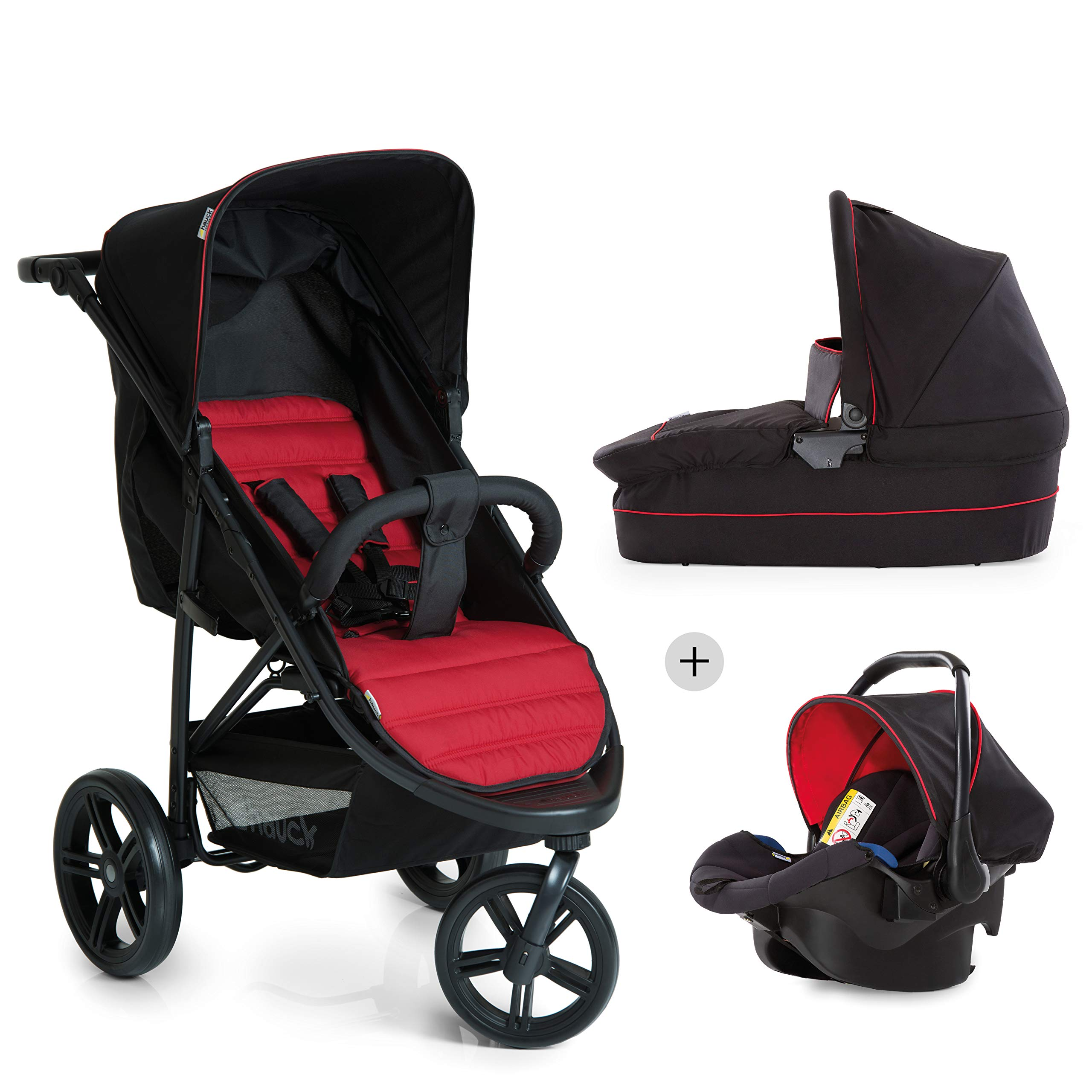 Hauck Rapid 3 Plus Trio Set - Carro deportivo 0 meses hasta 25 kg, coche