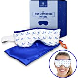 Eye Mask - Microwavable Compress Pad with Storage Pouch for Soothing Heat Therapy - Ultra Absorbent, Washable and Reusable - Treatment for Dry Eyes, Pink Eye, Puffiness, and Sties - by Optix 55