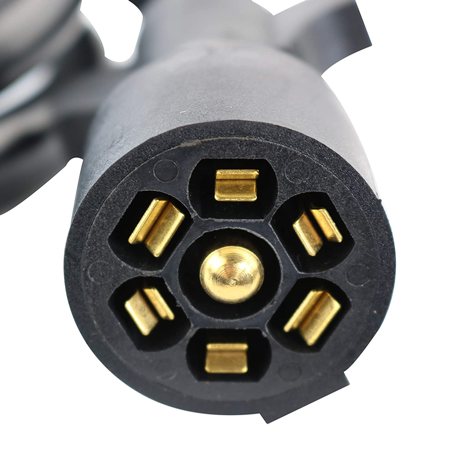 Heavy Duty /& Weatherproof 5th Wheel to Truck or Van 8-Feet 7 Pin Connector Plug for RV Trailer Leisure Cords 7-Way Trailer Extension Cord Wire 8 Ft Caravan