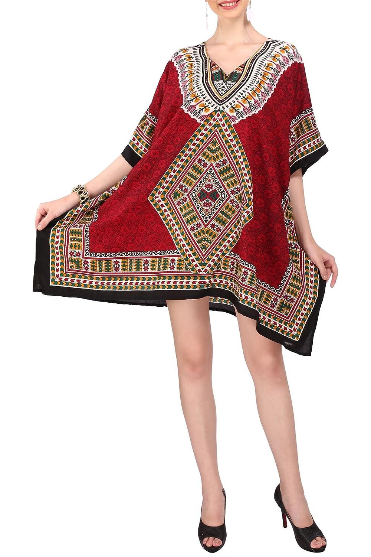 Miss Lavish Women's Kaftan Tunic Kimono Style Dress Summer Beach Cover Up Plus Size