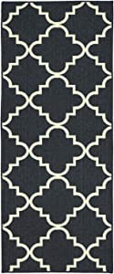 Mohawk Home Soho Fancy Trellis Geometric Lattice Printed Area Rug, 2'x8', Navy
