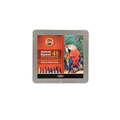 Koh-I-Noor : Progresso : Woodless Watercolour Pencils : Tin Set of 48: Office Products