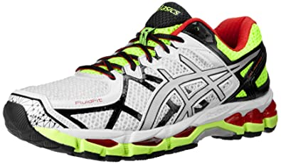 ASICS Mens Gel kayano 21 Running ShoeWhiteLightningFlash Yellow16