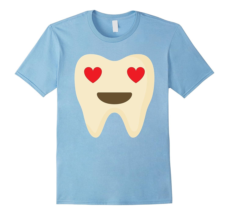 Tooth Emoji Heart Eye Shirt Teeth Oral Health T-Shirt Tee-TH