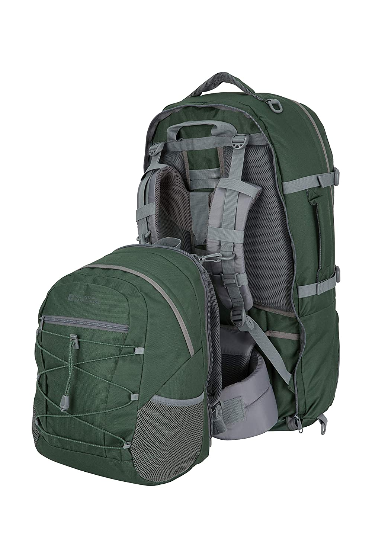 Mountain Warehouse Traveller 60L Durable Backpack 20L Rucksack
