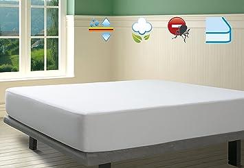 SAVEL, Protector de colchón Antiácaros Punto 100% Algodón Impermeable y Transpirable, 180x190/200cm (para Camas de 180): Amazon.es: Hogar
