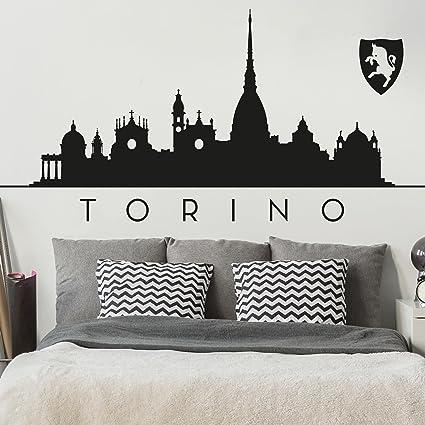 Bilderwelten Adesivo murale Skyline Torino, tatuaggio per parete ...