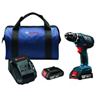 """Bosch DDS181A-02 18V Compact Tough 1/2"""" Drill/Driver Kit with SlimPack Batteries"""