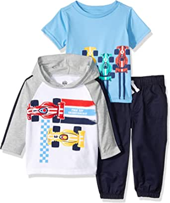 Kids Headquarters Baby Boys 3 Pieces Hooded Pants Set
