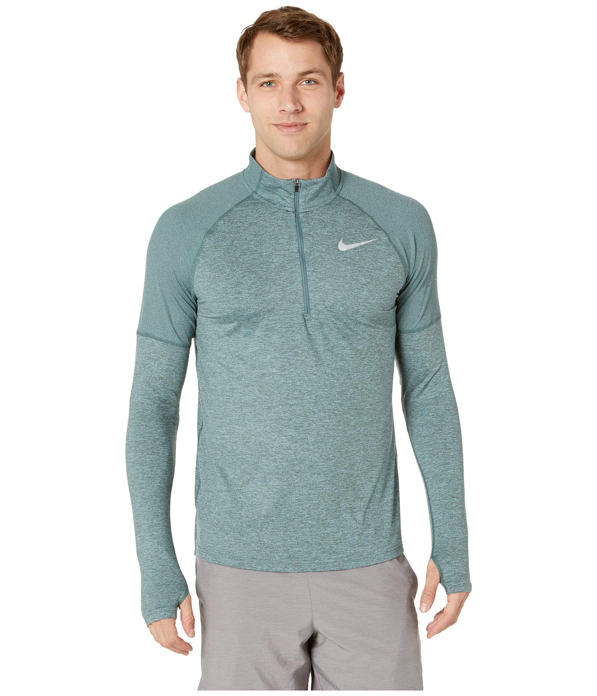 Nike Men's Element 1/2 Zip Running Top Hasta/Aviator Grey/Reflective Silver Size Small by Nike (Image #1)