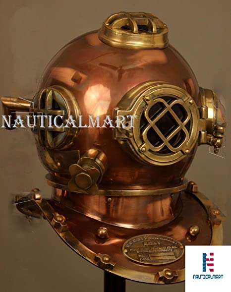 "Vintage Diving Helmet U.S Navy Mark V Deep SCA Scuba 18/"" Divers Helmet Replica"
