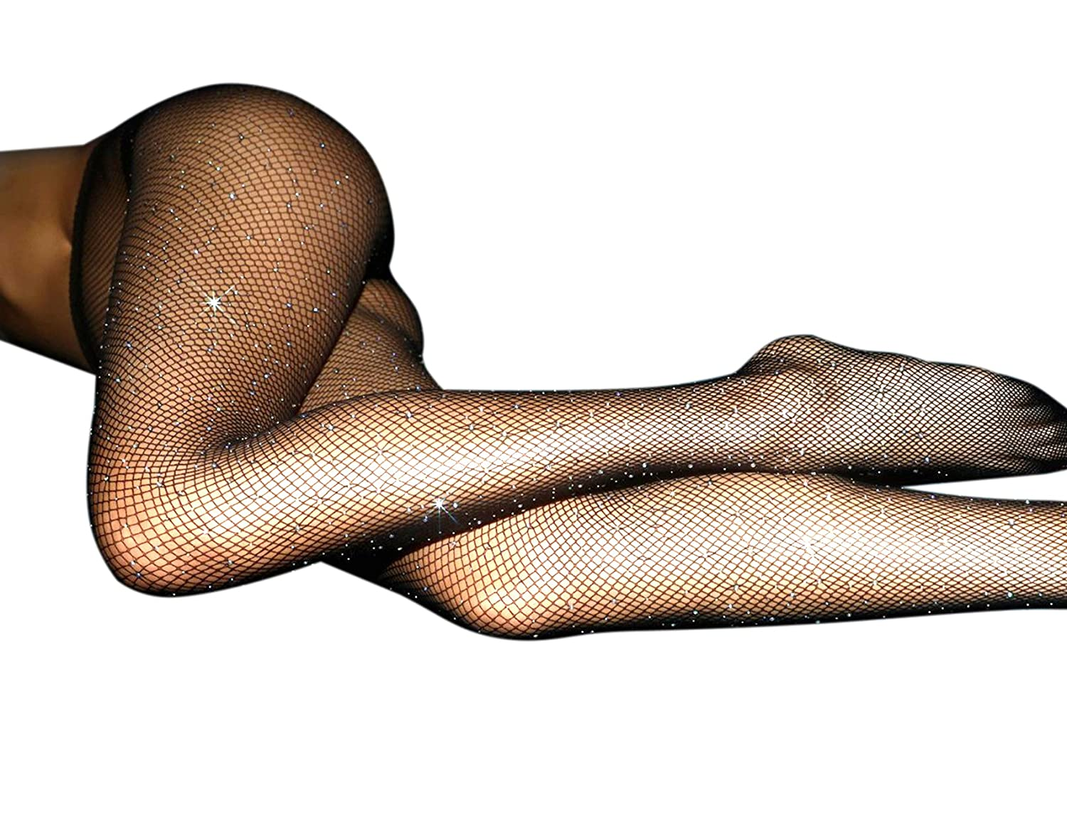 42e4f63cfa7 SEXY DESIGN - Pantyhose designed with sexy mesh¡Sparkle Rhinestone and high  rise