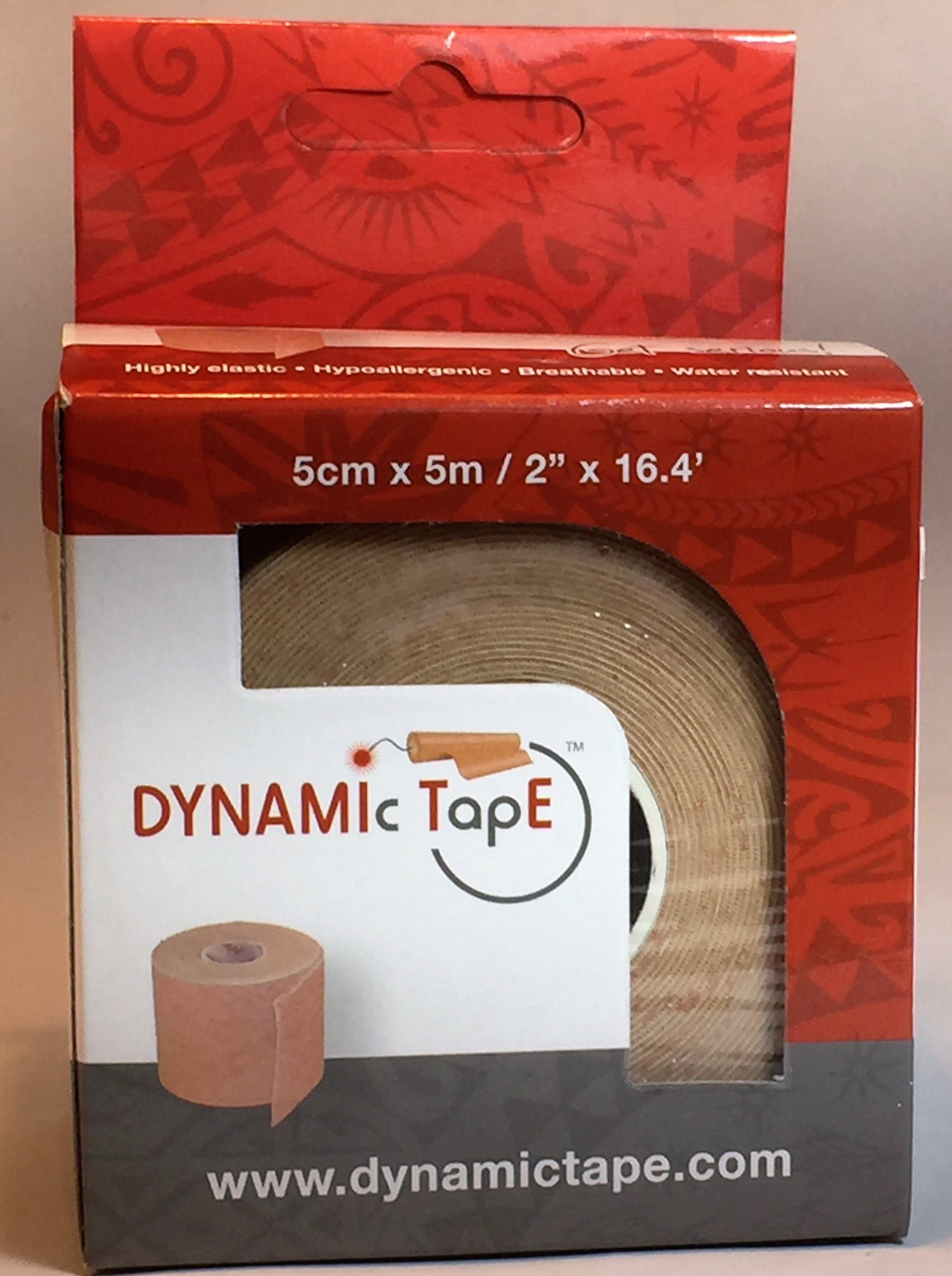 Dynamic Tape, 2'' X 16.4' (5CM X 5M), Beige Tattoo, Single Roll