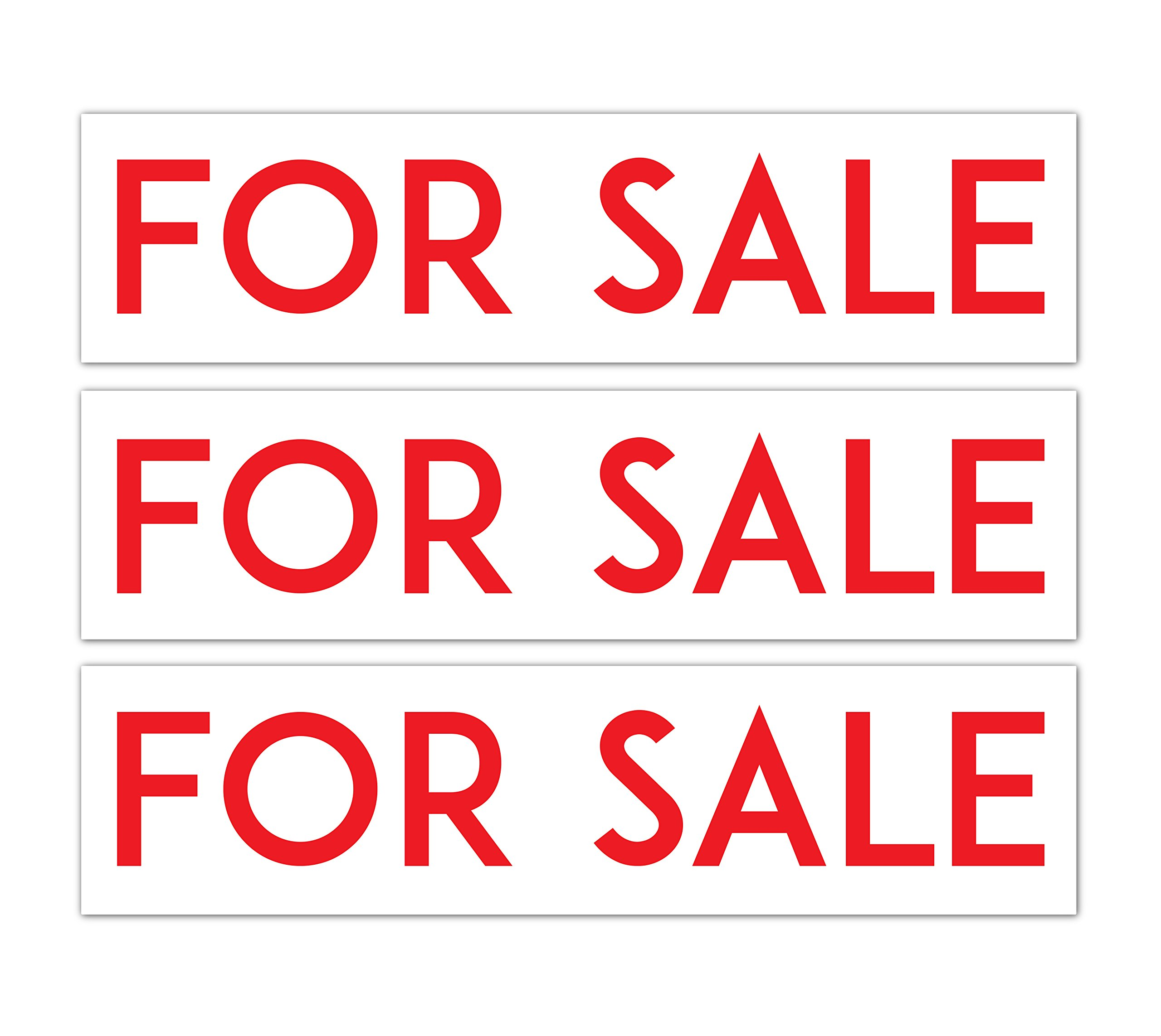 PRODUCT80 BEST Aluminum Real Estate Rider Signs | Double Sided and Durable | (Set of 3: FOR SALE)