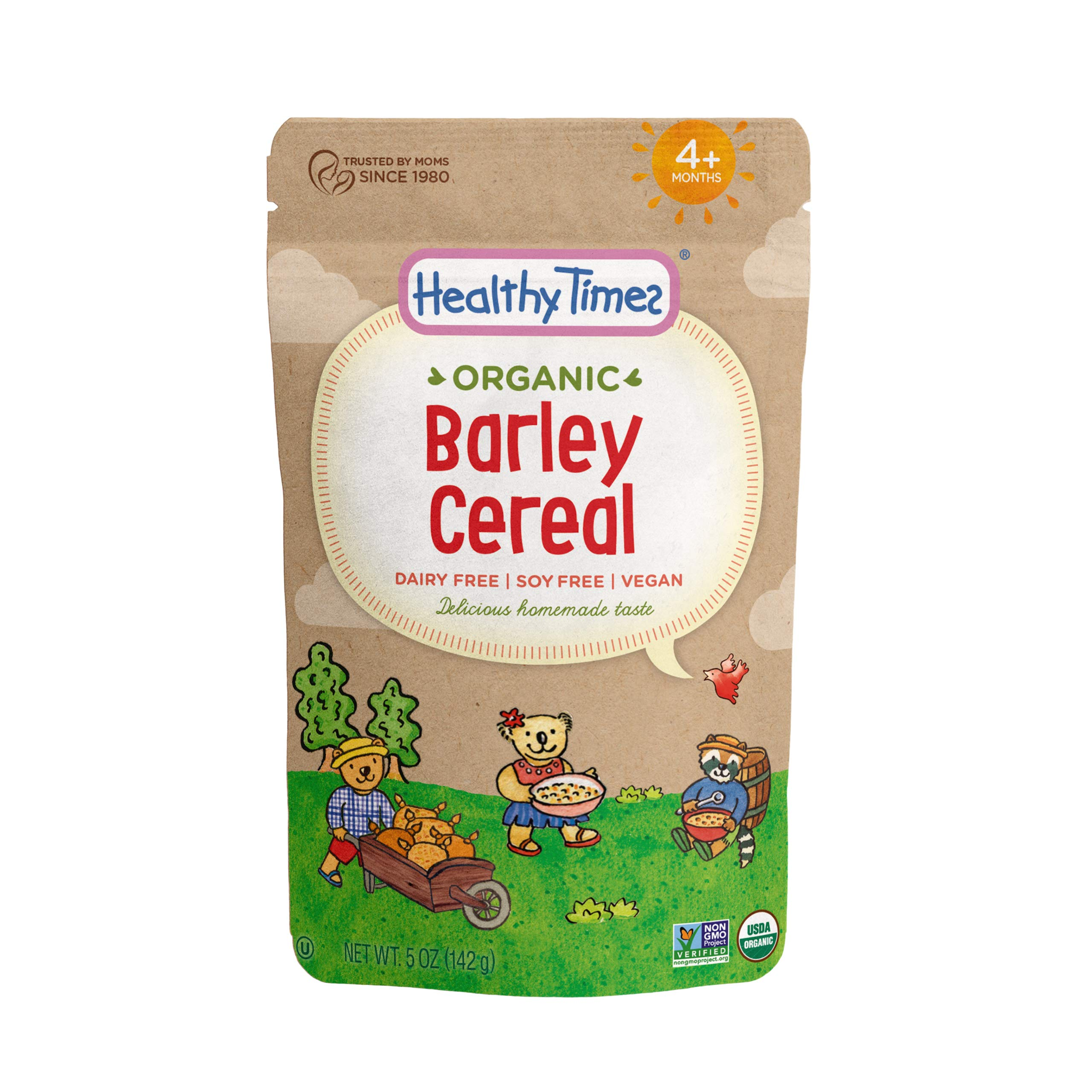 Healthy Times Organic Whole Grain Barley Baby Cereal, 5 Ounce (Packaging May Vary) by Healthy Times (Image #1)