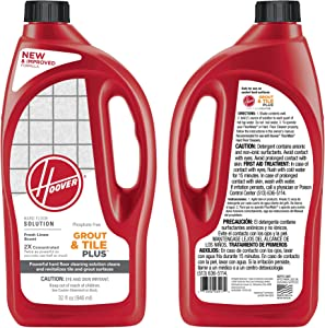 Hoover 2X FloorMate Tile and Grout Plus Hard Floor Cleaning Solution 32 Ounce, AH30435 Pack of 2