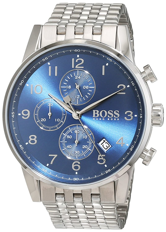 Amazon.com: Boss NAVIGATOR CLASSIC 1513498 Mens Chronograph Classic & Simple: Hugo Boss: Watches