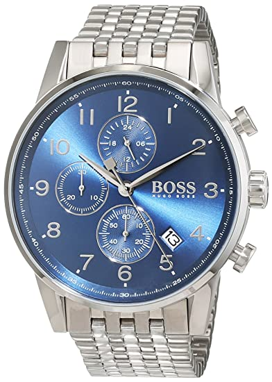 Amazon.com: Boss NAVIGATOR CLASSIC 1513498 Mens Chronograph Classic & Simple: Hugo Boss: Watches