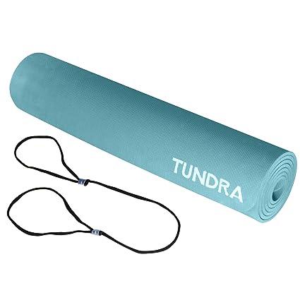 Amazon.com: Tundra EZ Yoga Mat, extra largo y grueso, correa ...
