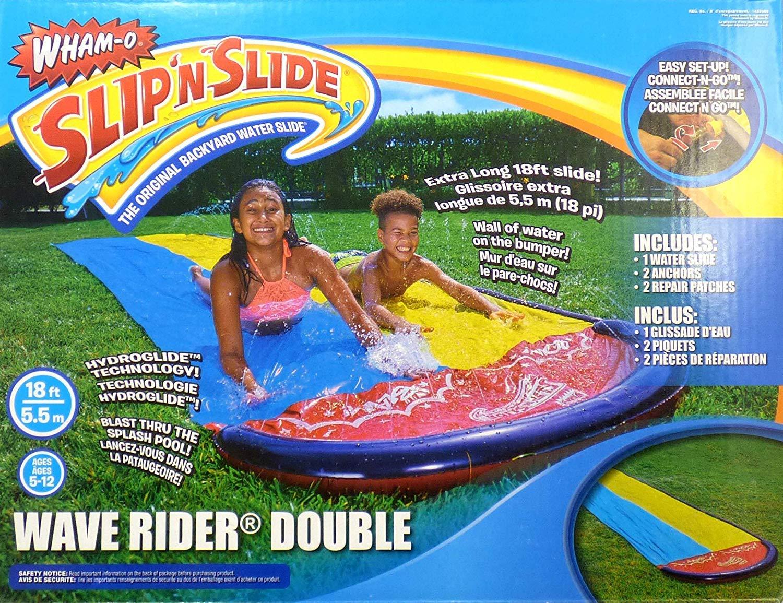 Wham-O Slip'nSlide Wave Rider Double Backyard Water Slide 18 Ft by Wham-O