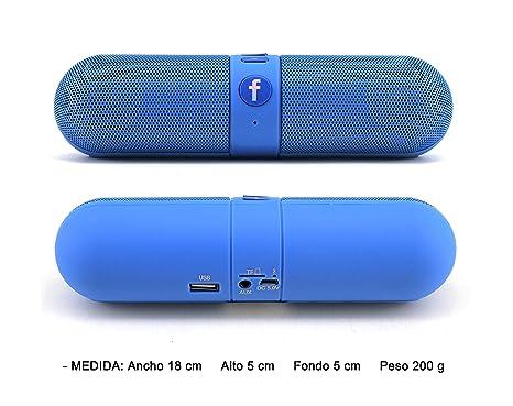M2 TEC - Altavoz Portátil Bluetooth F-Pill, Radio FM, TF Card,