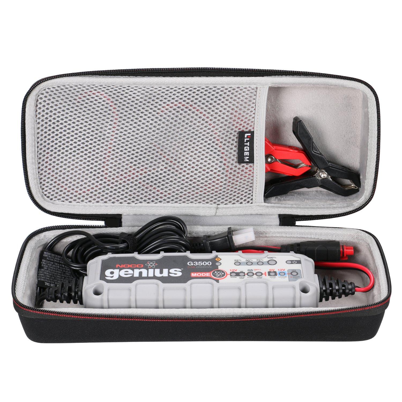 LTGEM EVA Hard Travel Carrying Case for NOCO Genius G3500UK 6V/12V 3.5 Amp / G1100UK 6V/12V 1.1 Amp UltraSafe Smart Battery Charger CS151