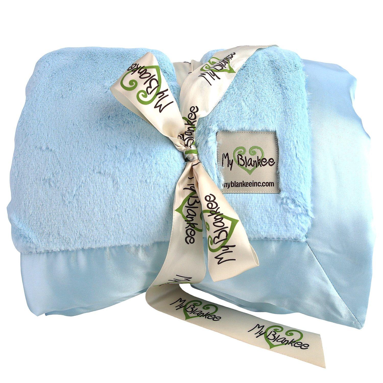 My Blankee Luxe Super Throw Blanket, Blue, 60'' X 70''